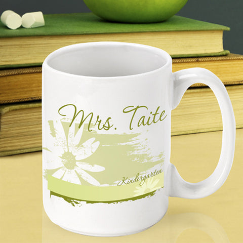 Teacher Coffee Mug - Delicate Daisy