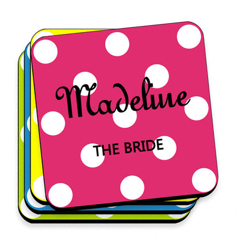 Polka Dot Coaster Set - Multi