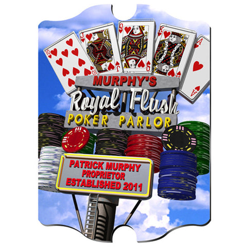 Marquee Vintage Sign - Daytime Royal Flush