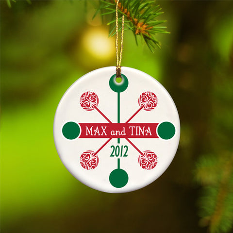 Contemporary Classic Ornament - Red/Green