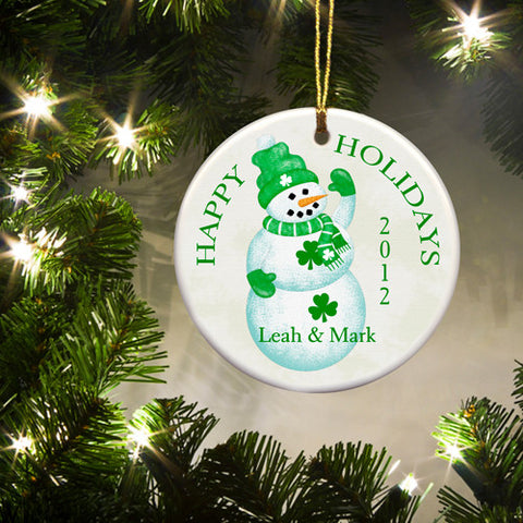 Irish Ornament - Snowman