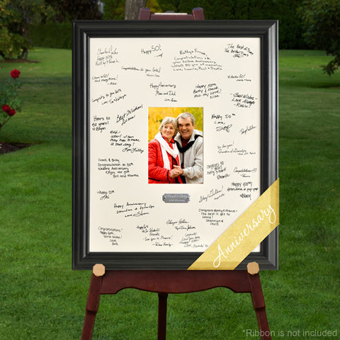 Laser Engraved Wedding Wishes Signature Frame - Anniversary