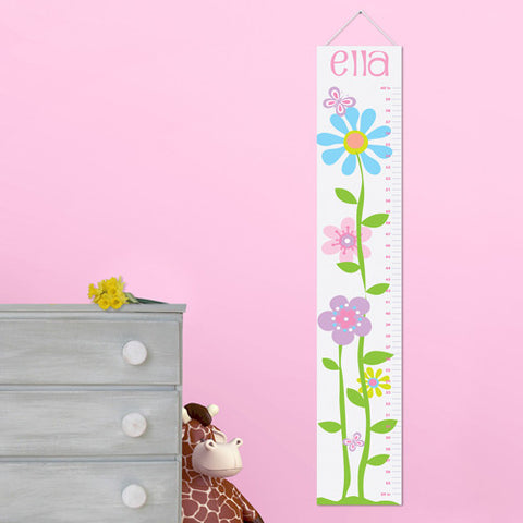 Kids Canvas Height Chart - Butterfly Blooms