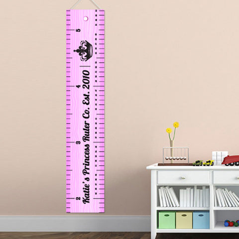 Kids Canvas Height Chart - Ruler of the Room