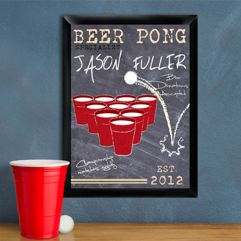 Beer Pong Traditional Sign - Champion