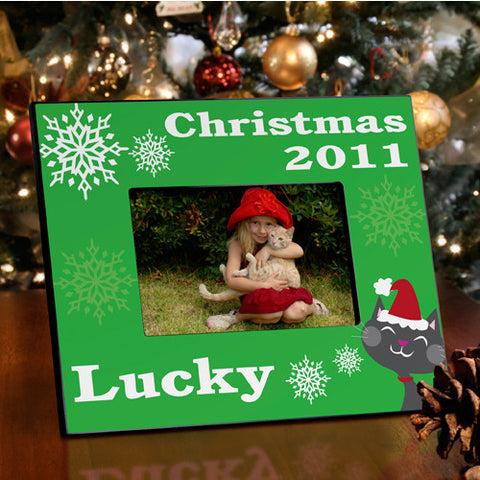 Christmas Picture Frame - Kitty