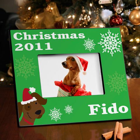 Christmas Picture Frame - Puppy