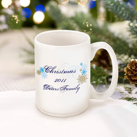 Christmas Coffee Mug - Snowflakes