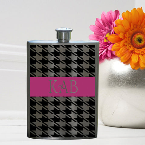Party Girl Flask - Houndstooth Flask