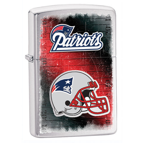 NFL Brushed Chrome Zippo Lighter - New England Patriots