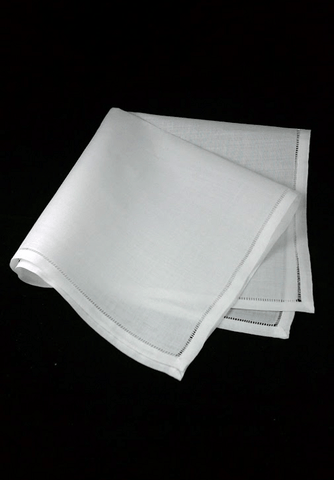 100% Linen Handkerchiefs Set of (3)