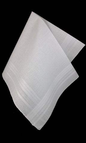 Satin Banded Handkerchiefs set of (3)
