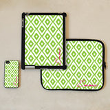 White Ikat Print iPad Case