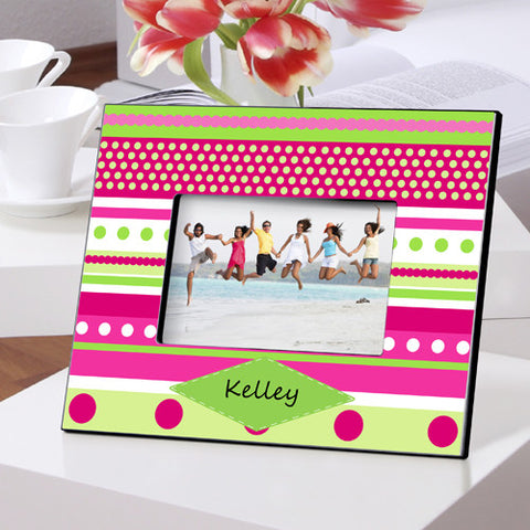 Color Bright Frames - Pink Polka Dot