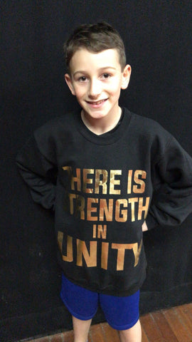 There is Strength in Unity Jumper - GOLD
