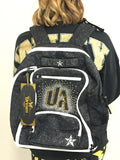 Black Sparkle Rebel Dream bag with Crystal UA logo