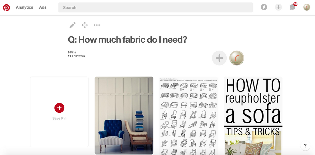 fabric on pinterest