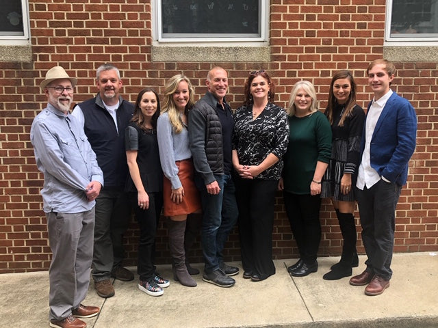 Above (left to right):  STI/Revolution Design team, Jeff Davis, Todd Lavender, Ashley Hovis (marketing), Katherine Shoaf, Glen Read, Karen Porter, Gina Grantt, Jill Harrill (marketing) and David Gibbons (marketing)