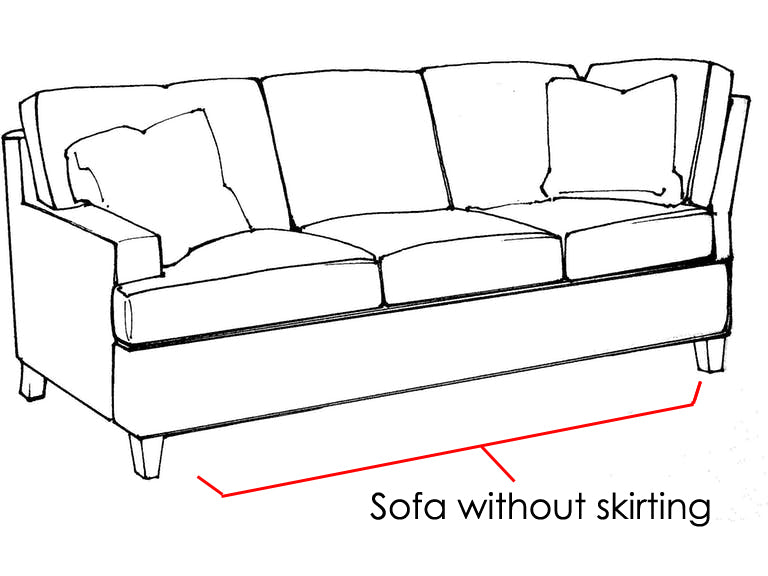 sofa without skirtting