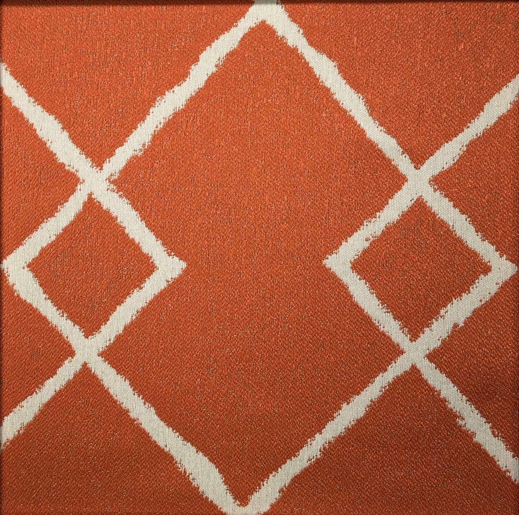Chainstitch - Jacquard Upholstery Fabric - chainstitch-mango / Yard - Revolution Upholstery Fabric