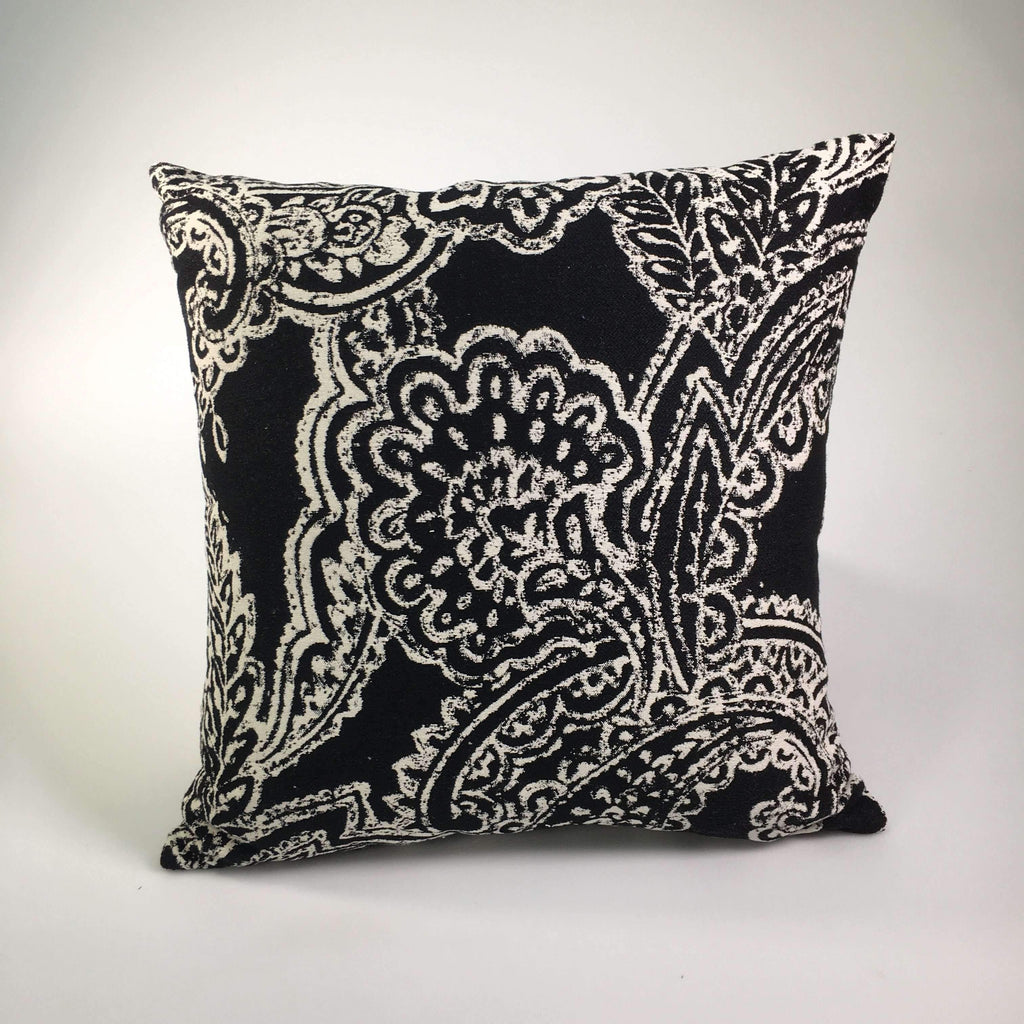 patterned performance fabric pillow