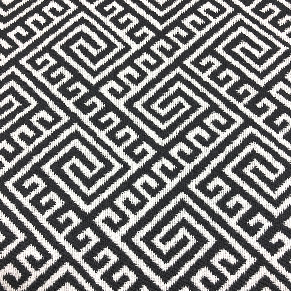 Hatteras - Outdoor Upholstery Fabric - yard / Black - Revolution Upholstery Fabric
