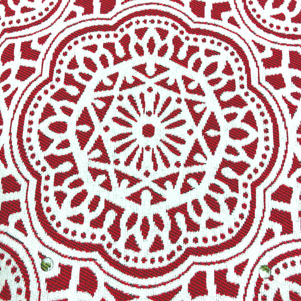 Gwyneth - Outdoor Upholstery Fabric - yard / Red - Revolution Upholstery Fabric