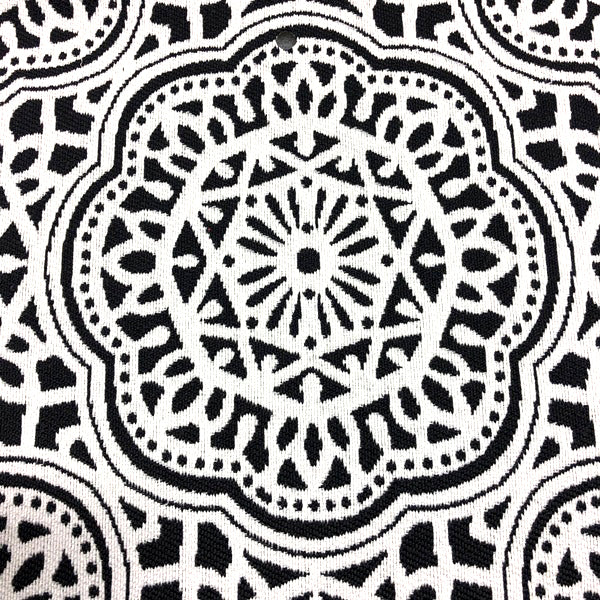 Gwyneth - Outdoor Upholstery Fabric - yard / Black - Revolution Upholstery Fabric