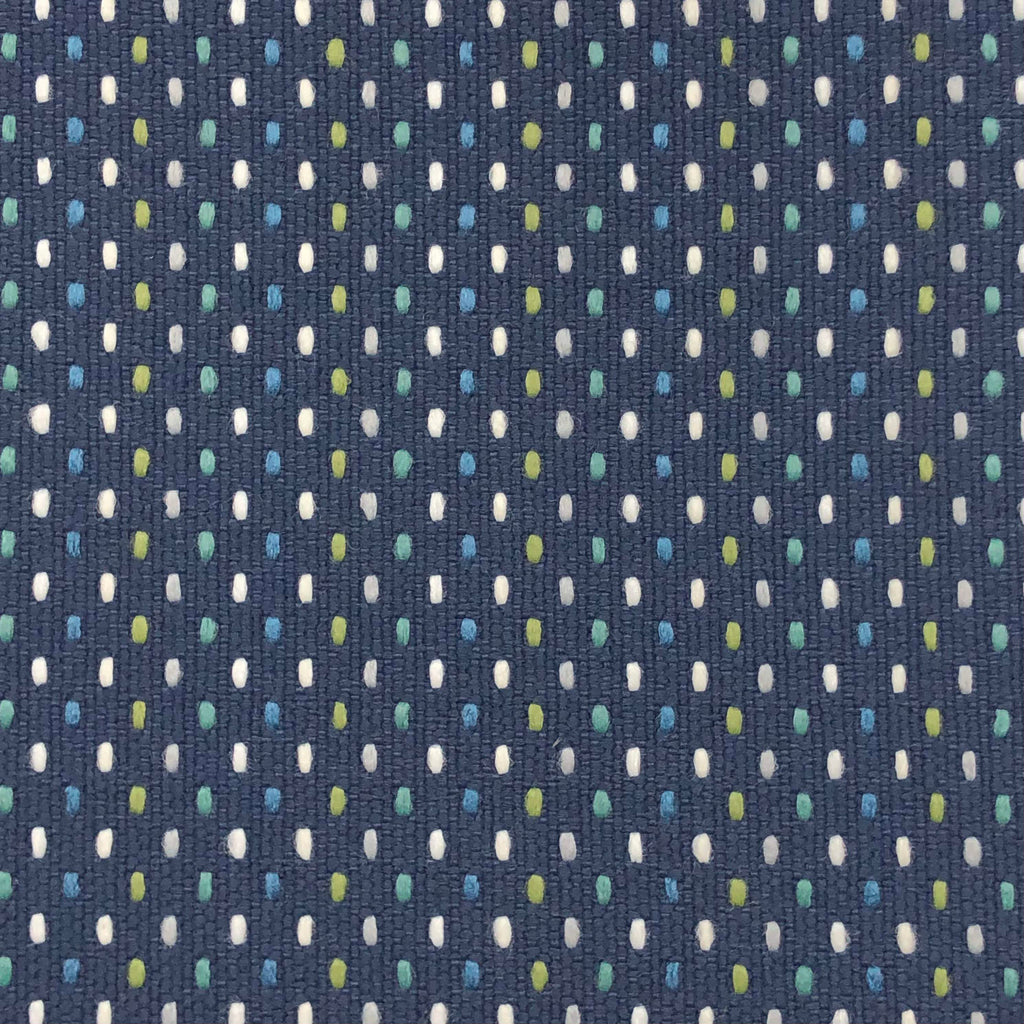 Dotz - Outdoor Upholstery Fabric - yard / Navy - Revolution Upholstery Fabric
