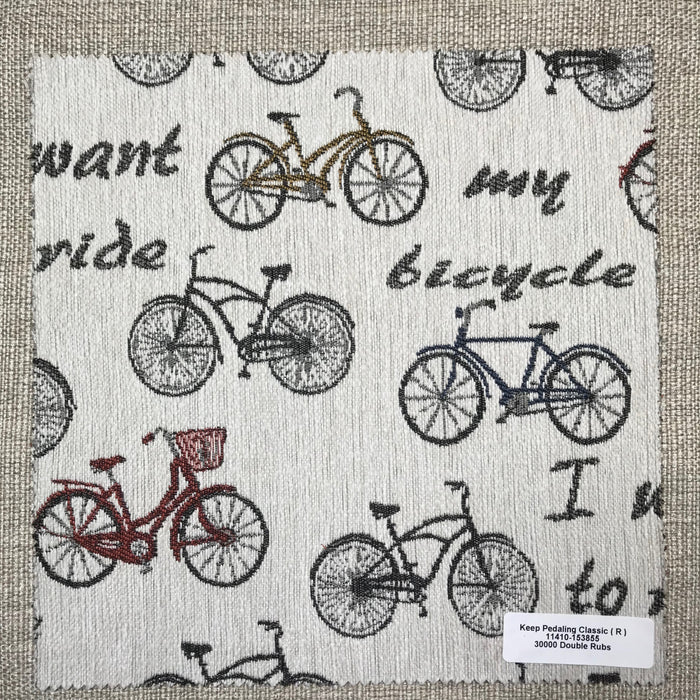 Keep Pedaling Memo Set - Keep Pedaling Memo Set - Revolution Upholstery Fabric