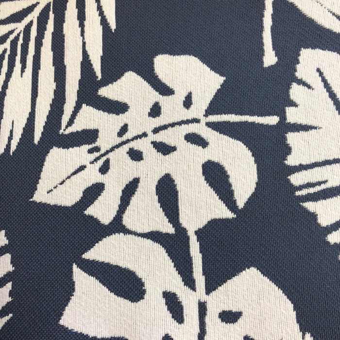 Tropical - Outdoor Performance Fabric - yard / Navy - Revolution Upholstery Fabric