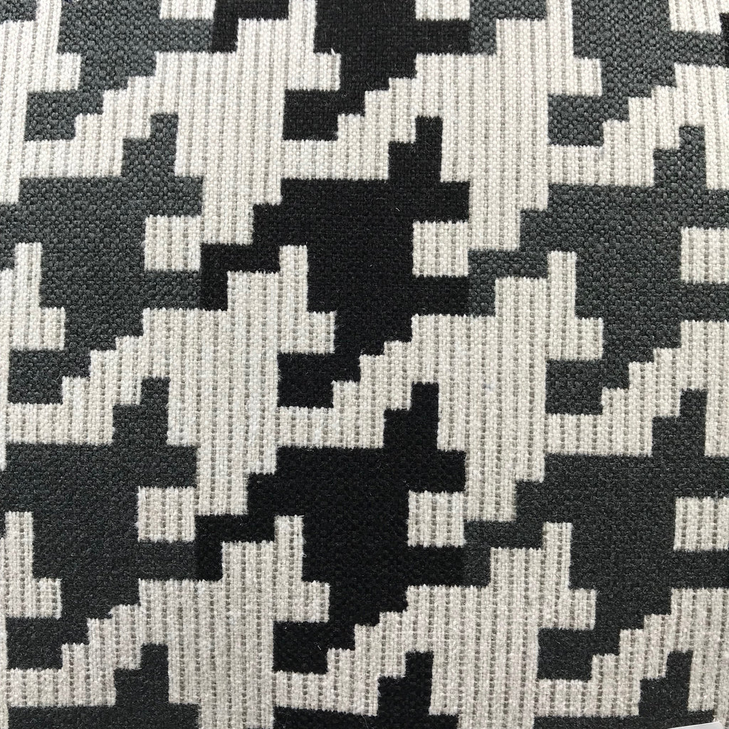 Blass Houndstooth - Jacquard Upholstery Fabric - yard / blass-ebony - Revolution Upholstery Fabric