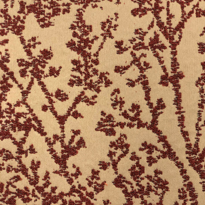 Tree of Life - Jacquard Upholstery Fabric - yard / treeoflife-brick - Revolution Upholstery Fabric
