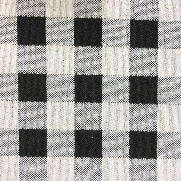 Brompton Checkered Print - Jacquard Upholstery Fabric - Yard / brompton-black - Revolution Upholstery Fabric
