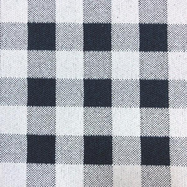 Brompton Checkered Print - Jacquard Upholstery Fabric - Yard / brompton-navy - Revolution Upholstery Fabric