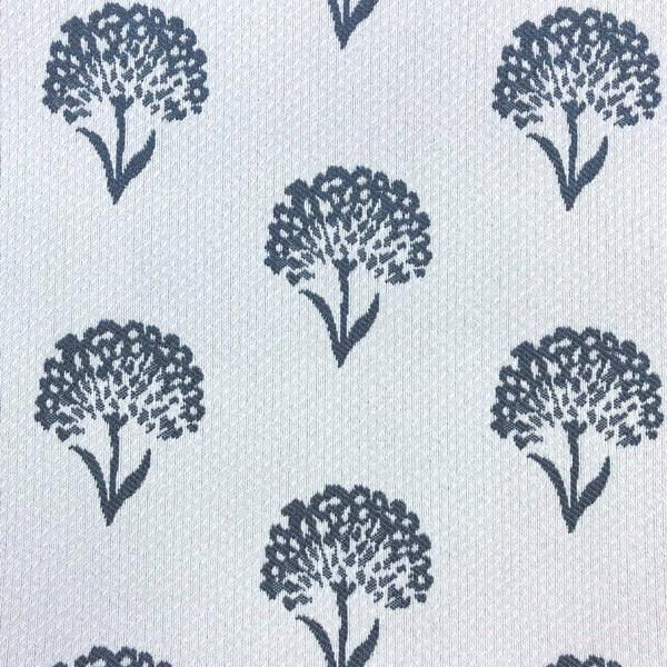 Coneflower Floral - Jacquard Upholstery Fabric - Yard / coneflower-navy - Revolution Upholstery Fabric