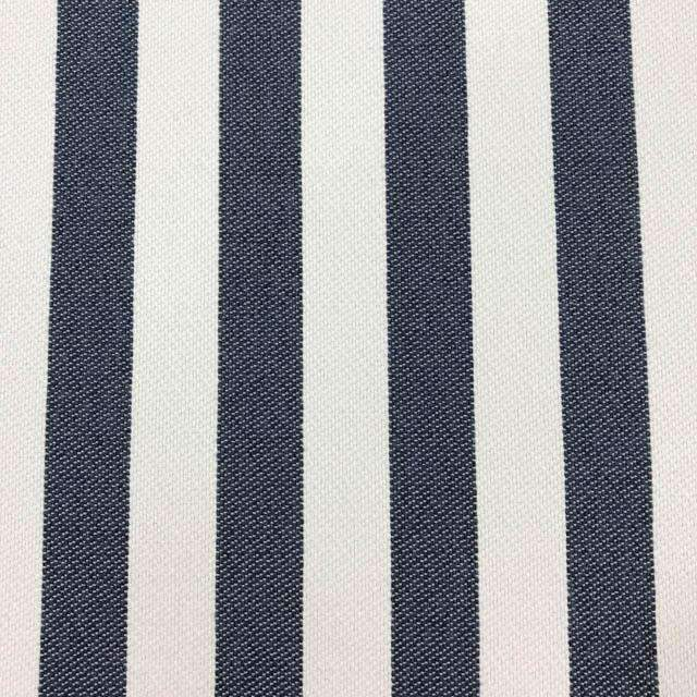 Cowabunga - Washable Striped Performance Fabric - yard / cowabunga-denim - Revolution Upholstery Fabric