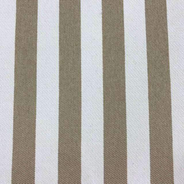 Cowabunga - Washable Striped Performance Fabric - yard / cowabunga-ivory - Revolution Upholstery Fabric