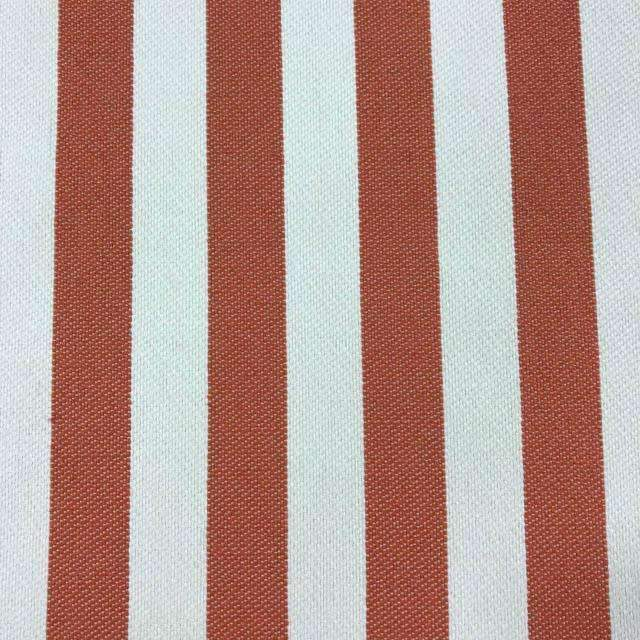 Cowabunga - Washable Striped Performance Fabric - yard / cowabunga-mango - Revolution Upholstery Fabric