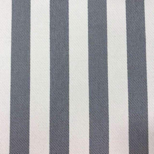 Cowabunga - Washable Striped Performance Fabric - yard / cowabunga-smoke - Revolution Upholstery Fabric