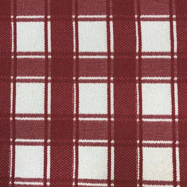 Denmark Plaid - Jacquard Upholstery Fabric - Yard / denmark-cherry - Revolution Upholstery Fabric
