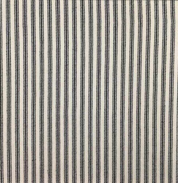 Foreshore - Washable Striped Performance Fabric - foreshore-onyx / Yard - Revolution Upholstery Fabric