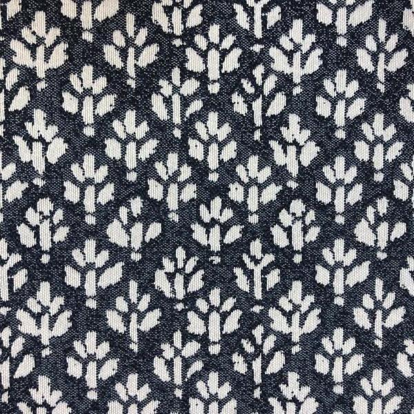 Iceland Ditsy Floral -  Jacquard Upholstery Fabric - Yard / iceland-indigo - Revolution Upholstery Fabric