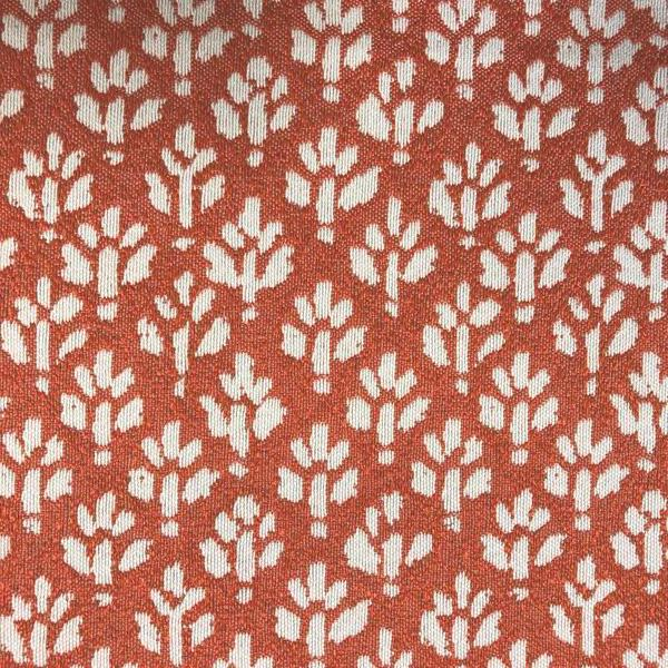 Iceland Ditsy Floral -  Jacquard Upholstery Fabric - Yard / iceland-mango - Revolution Upholstery Fabric