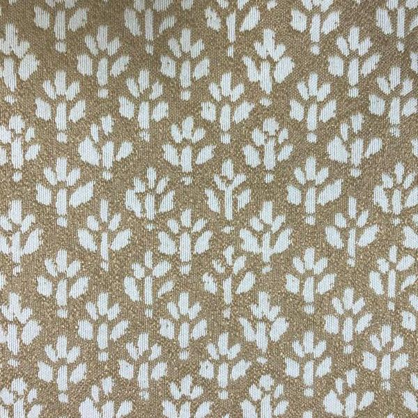 Iceland Ditsy Floral -  Jacquard Upholstery Fabric - Yard / iceland-straw - Revolution Upholstery Fabric