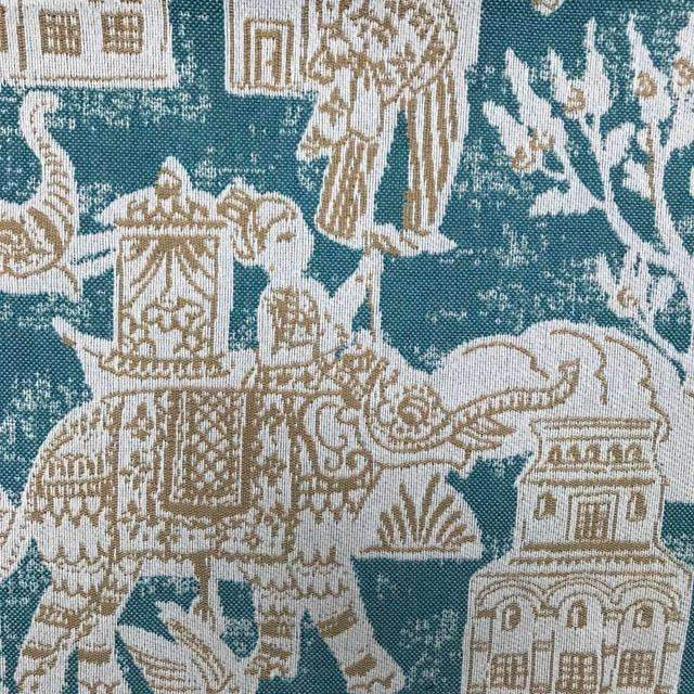 Kashmir Elephant - Jacquard Performance Upholstery Fabric - Yard / kashmir-bottle - Revolution Upholstery Fabric
