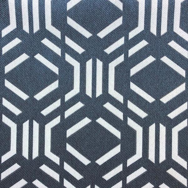 Montpelier Geometric Pattern -  Jacquard Upholstery Fabric - Yard / montpelier-navy - Revolution Upholstery Fabric