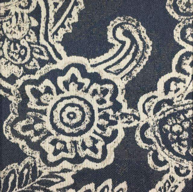 Opulent - Paisley Upholstery Fabric - opulent-marine / Yard - Revolution Upholstery Fabric