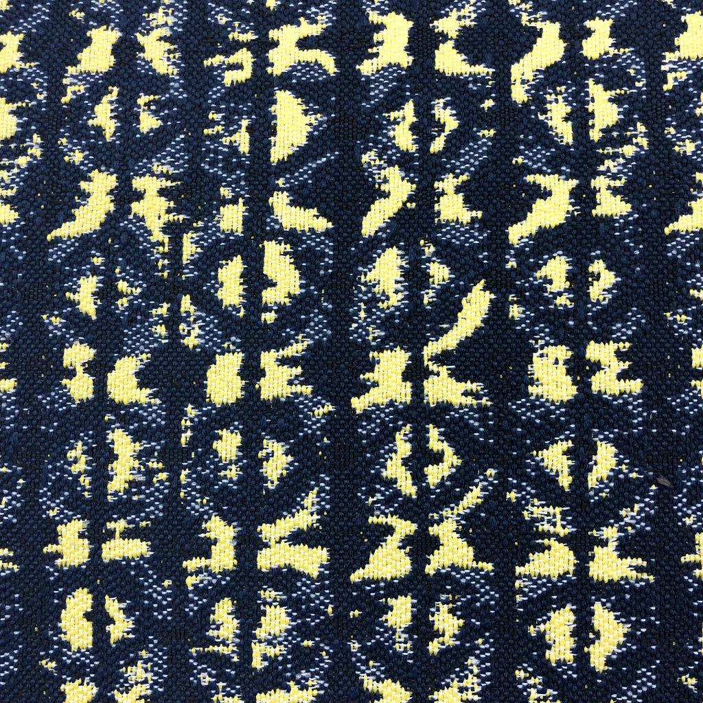 Polynesian - Outdoor Performance Fabric - yard / Navy Yellow - Revolution Upholstery Fabric