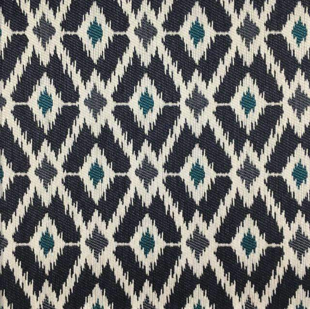 Pony Express - Diamond Pattern Upholstery Fabric - pony-express-navy / Yard - Revolution Upholstery Fabric